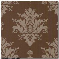Tapeten Barock Vlies Design in braun Made in Italy