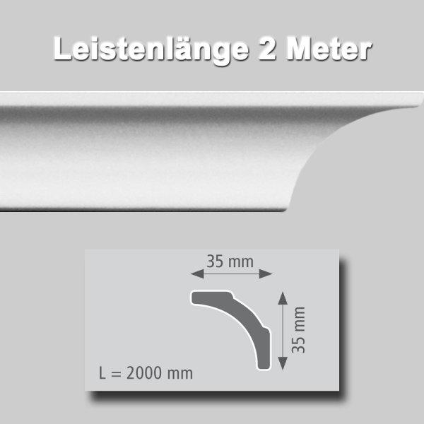 Zierprofile extrudiert aus Polystyrol 50/50 mm