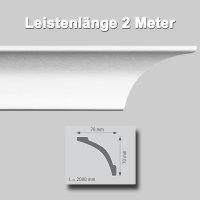 Zierprofile extrudiert aus Polystyrol 70/70 mm