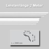 Zierprofile extrudiert aus Polystyrol 32/32 mm