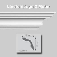 Zierprofile extrudiert aus Polystyrol 80/80 mm