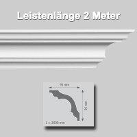 Zierprofile extrudiert aus Polystyrol 95/95 mm