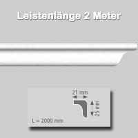 Zierprofile extrudiert aus Polystyrol 25/21 mm