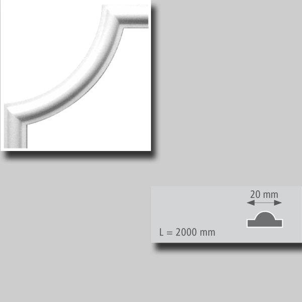 Bögen für Zierprofile r = 85 mm 4 Stück Packung