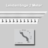 Zierprofile extrudiert Polystyrol 60 x 70 mm