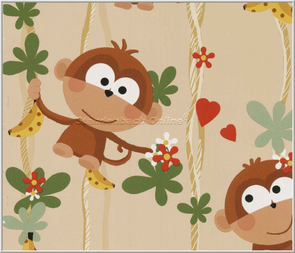 Tapete Cheeky Monkey Affe Urwald