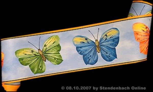 Borte Bordüre Kinderzimmer Schmetterlinge