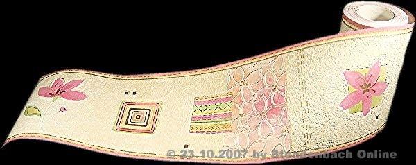Bordüre Floral Vinylschaum tolle Struktur
