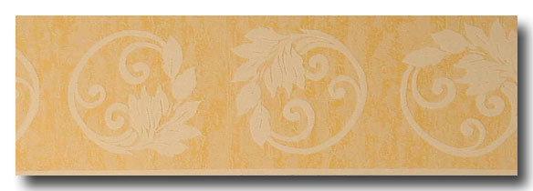 Borte - Bordüre floral Rankengelb, beige
