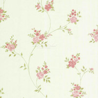Landhaus Vliestapeten Rosen Ranken weiß grün rose