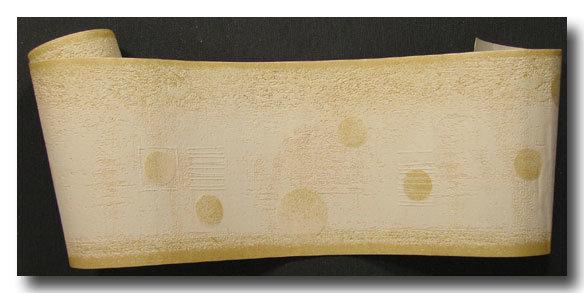 Tapetenborten Vinylschaum Grafik beige gold