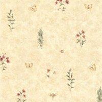 Kitchen Style Tapete Blumen Schmetterling