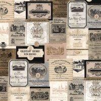 Kitchen Style Tapete Wein Label
