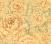 Sirpi Gold Satin Tapeten Italian Style Rosen