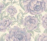 Sirpi Violet Satin Tapeten Italian Style Rosen
