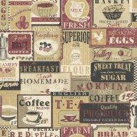 Nostalgie Tapeten Food Label