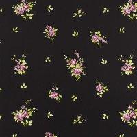 Landhaus Tapeten Blumen Dekor black