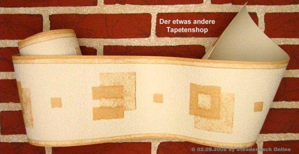 Tapetenborten Vinylschaum Grafik creme beige