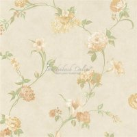 Landhaus Satintapeten Blumenranken Pure Silk