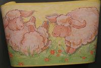 Kinderzimmer Bordüre, Schafe