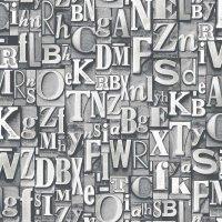 Nostalgie Tapeten Buchstaben