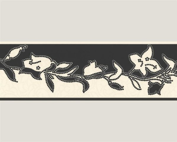 Bordüre Tapetenborte schöner Wohnen creme schwarz