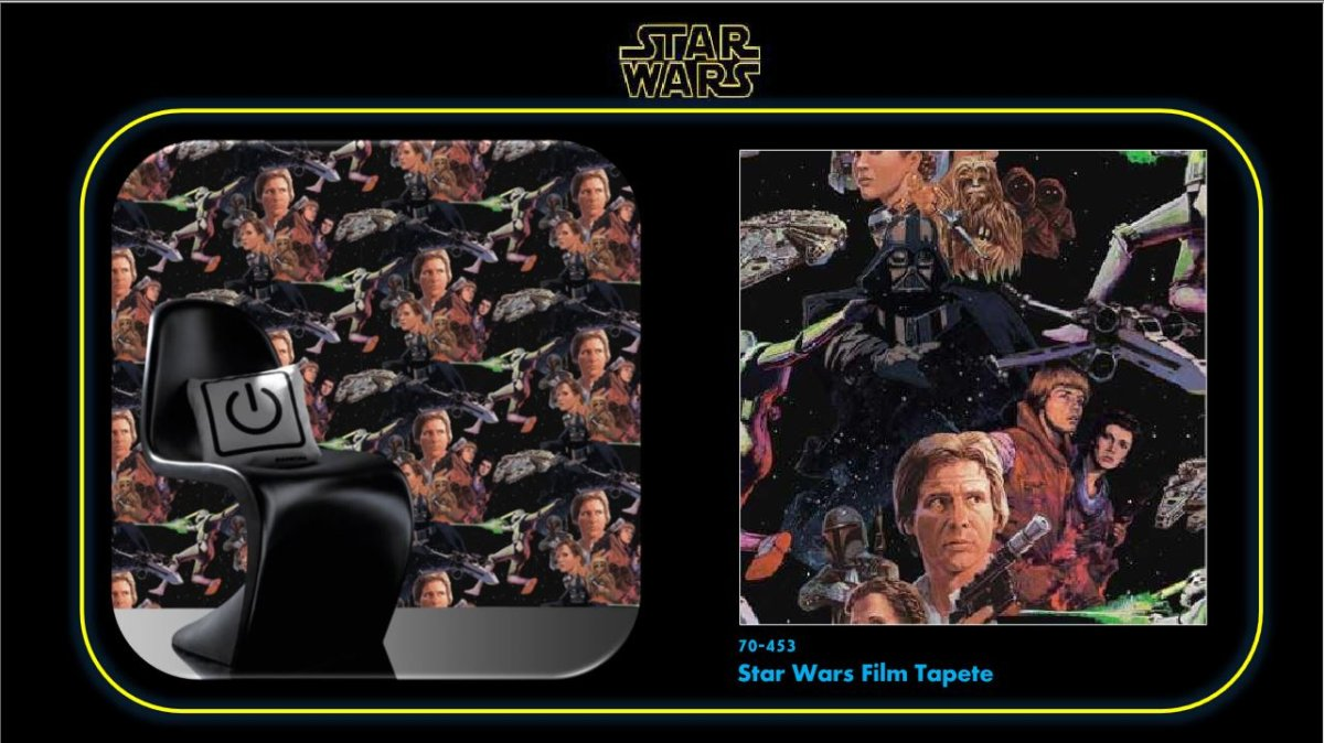 star wars film tapete. Black Bedroom Furniture Sets. Home Design Ideas