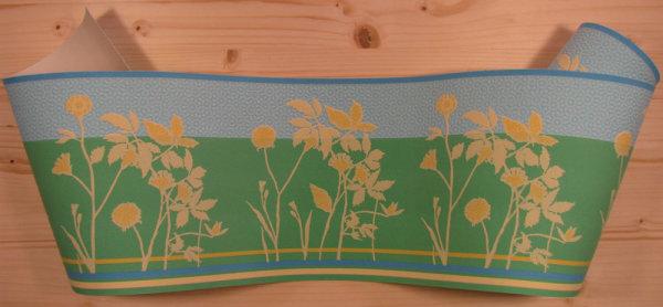 Bordüre Borte floral Esprit grün türkis gelb