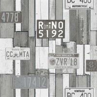 What´s Up Jugendzimmer Vliestapeten Vintage Holz