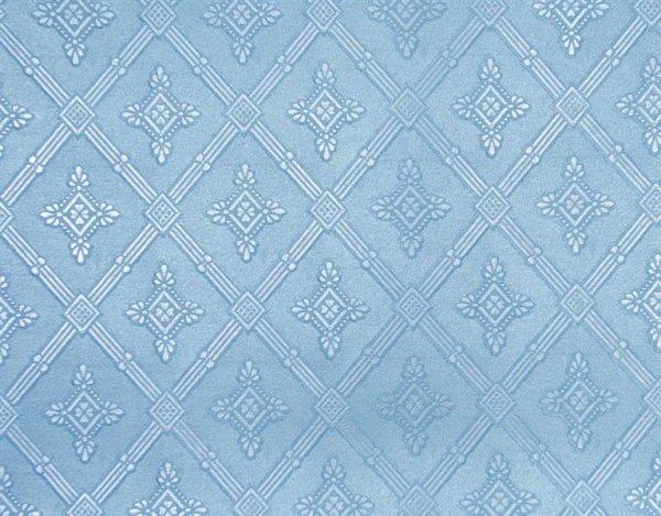 Klassische Satintapete mit großem barocken Muster