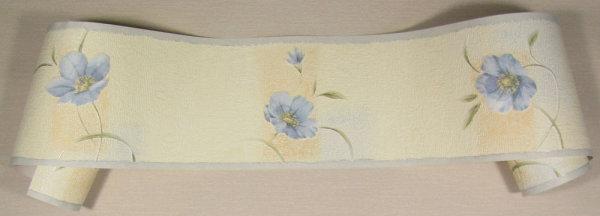 Tapeten Borte Bordüre floral  Vinylschaum