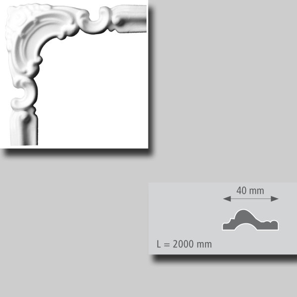 Bögen für Zierprofile r = 120 mm 4 Stück Packung