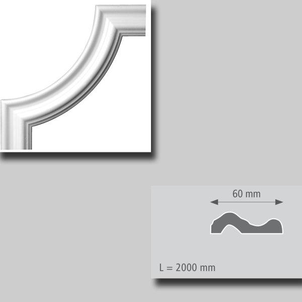 Bögen für Zierprofile r = 180 mm 4 Stück Packung