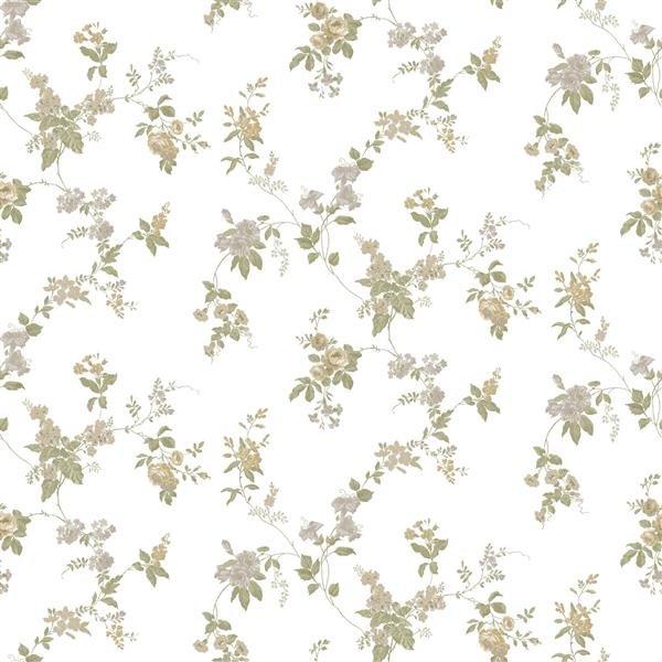2501 Primavera Tapete Landhaus Tapeten Blumen Floral Ranken