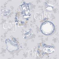 2506 Primavera Tapete Landhaus Küche Kaffee Geschirr