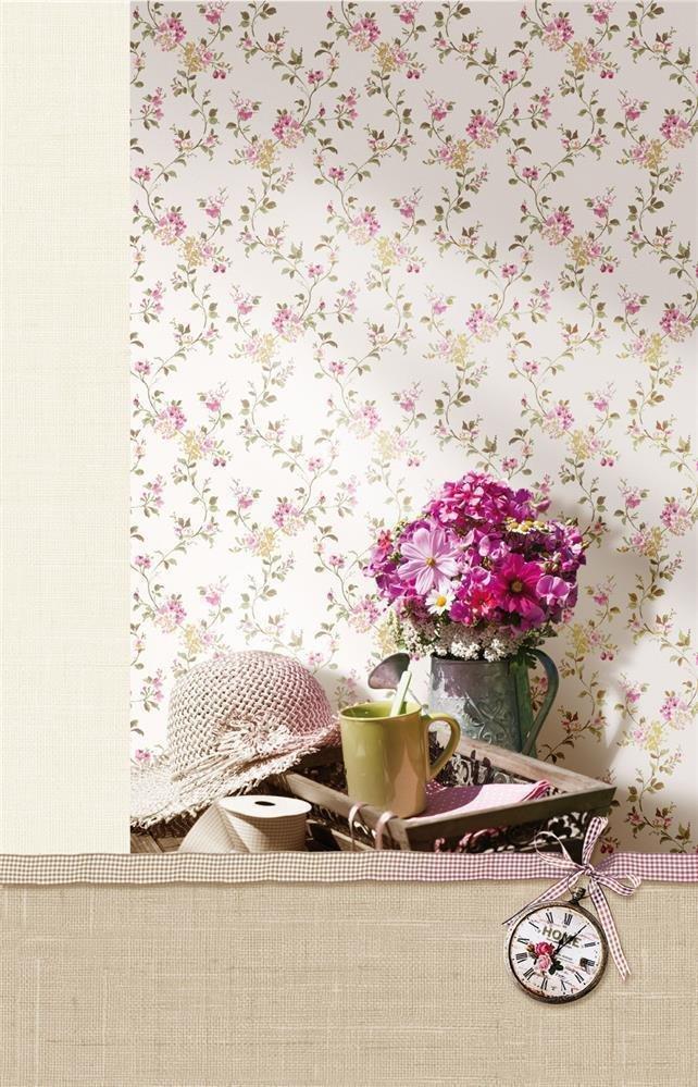 2532 primavera tapete landhaus floral blumenranken. Black Bedroom Furniture Sets. Home Design Ideas