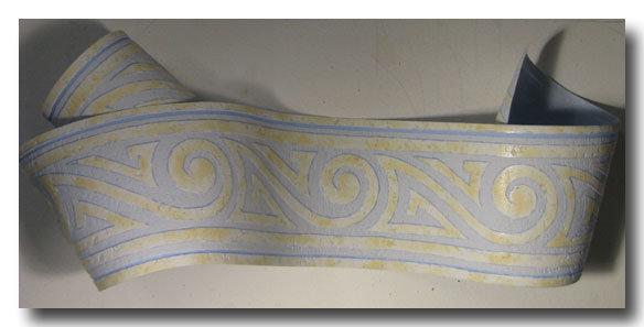 Tapetenborten Design grafik blau gelb