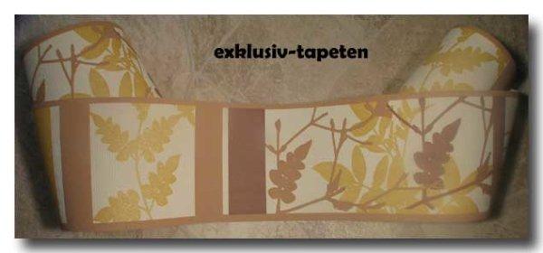 Borte Tapetenborte floral beige braun ocker