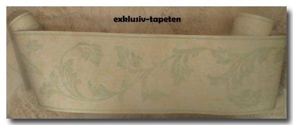 Tapeten Bordüre floral Ranken pastel gelb grün
