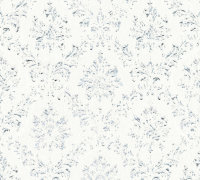 Vlies Textiltapete Metallic Silk shabby chic