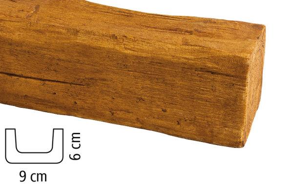 Balken Polyurethan - Eiche hell - 2 m lang 9 x 6 cm