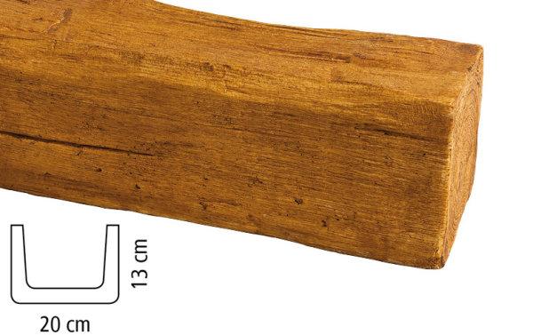 Balken Polyurethan - Eiche hell - 2 m lang 20 x 13 cm