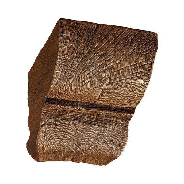 PU Konsole Polyurethan - Eiche dunkel 12 x 12 cm
