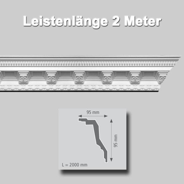 Zierprofile extrudiert aus Polystyrol 90//95 mm