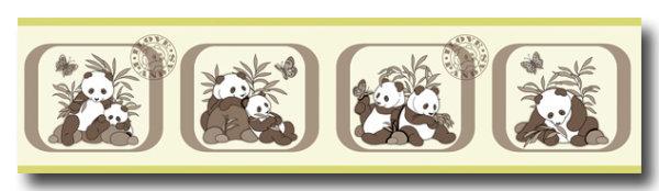 Borte Kinderzimmer sweet little world Pandabären