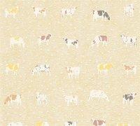 Vliestapete Kitchen Dreams Küche Kühe beige braun