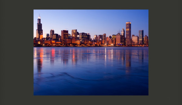 Fototapete  Icy Downtown Chicago 200x154 cm