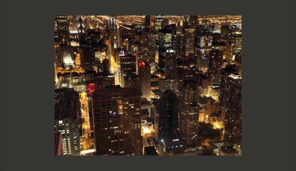 Fototapete  Nacht in Chicago USA 200x154 cm