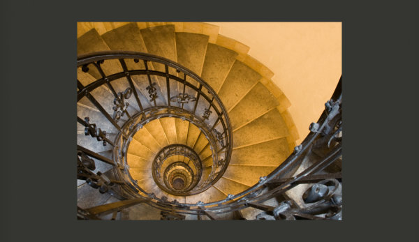 Fototapete  Stone steps in ancient tower 200x154 cm