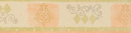 Borte Tapetenborte Grafik orange grün